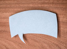 The paper speech bubble Royalty Free Stock Image