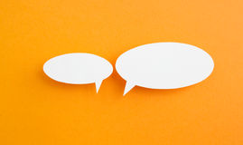 Paper speech bubble Royalty Free Stock Photography