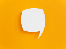 Paper speech bubble Royalty Free Stock Photos