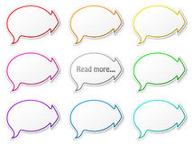 Paper speech bubbles Royalty Free Stock Photos