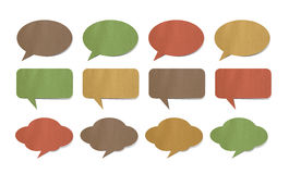 Paper speech bubbles. On white Royalty Free Stock Photography