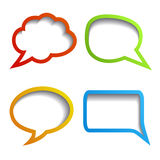 Paper speech bubbles Royalty Free Stock Image