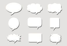 Paper speech bubbles background Stock Photography