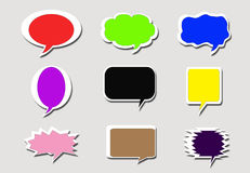 Paper speech bubbles background Royalty Free Stock Images