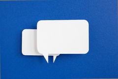 Paper speech bubbles Stock Images