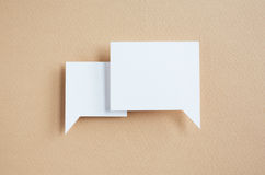 Paper speech bubbles Stock Photo