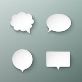 Paper speech bubbles different shapes with the shadows Royalty Free Stock Photography