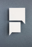Paper speech bubbles Stock Image