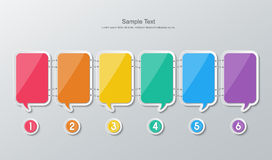 Paper speech bubbles infographics Royalty Free Stock Photo