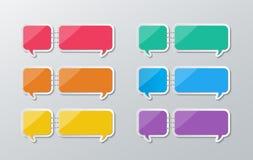 Paper speech bubbles infographics Stock Photos