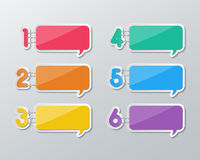 Paper speech bubbles infographics Royalty Free Stock Image