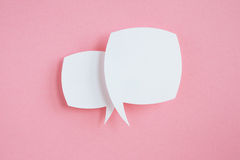 Paper speech bubbles Stock Photo