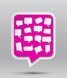 Paper speech bubbles. Set of blank  paper speech bubbles Royalty Free Stock Photos