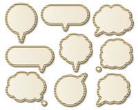 Paper speech bubbles Royalty Free Stock Photo