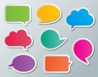 Paper speech bubbles. Set of blank multi colored paper speech bubbles. infographic elements Stock Photo