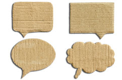 Paper speech bubbles set Royalty Free Stock Photo