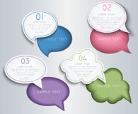 Paper speech bubbles Stock Photos
