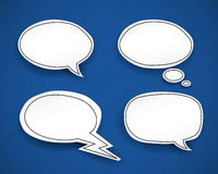 Paper Speech Bubbles Stock Images