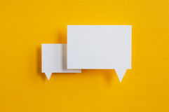 Paper speech bubbles Stock Photography