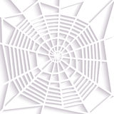 Paper spider web. Spiral orb  type. Halloween decoration. Icon. Stock Photos