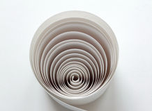 Paper in spiral Stock Images