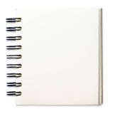 Paper spiral notebooks. Blank background. paper spiral notebooks on whit stock images