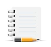 Paper spiral notebooks Stock Photography