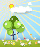Paper spring tree Stock Images
