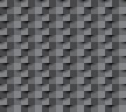 Paper square 11 black. Seamless repeating square abstract  black texture, 3d vector background Royalty Free Stock Photo
