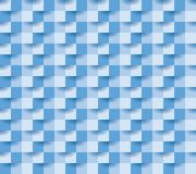 Paper square 11 blue. Seamless repeating square abstract  blue texture, 3d vector background Stock Image