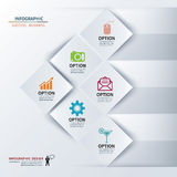 Paper square infographic Stock Images