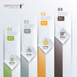 Paper square timeline infographic Royalty Free Stock Photos