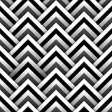 Paper squares with shadow in black and white seamless pattern, vector Royalty Free Stock Image