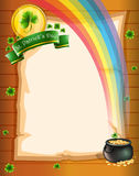 A paper with St. Patrick's symbols Stock Image