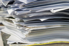 Paper stack. The work running race the time Royalty Free Stock Image