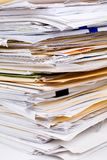 Paper Stack. Close up shot Royalty Free Stock Images