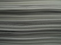 Paper Stack. A stack of office paper to form horizontal lines royalty free stock photography