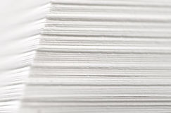 Paper stack closeup Royalty Free Stock Photos