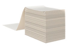 Paper stack label Royalty Free Stock Photo