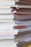 Paper stack from old magazines Royalty Free Stock Photos