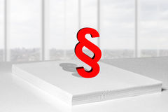 Paper stack paragraph symbol Stock Images
