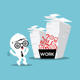 Paper Stack Work Load Stock Image