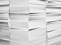 Paper stacks Stock Photography