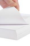 paper stapel för hand Arkivfoto