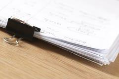 paper stapeln Fotografering för Bildbyråer