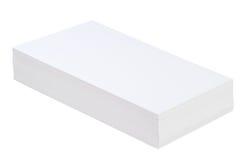 paper stapelwhite Royaltyfri Bild