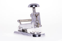 Paper stapler. Paper stapler on white background stock photos