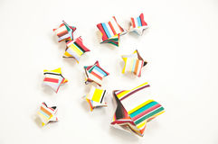 Paper star colourfull Stock Photos
