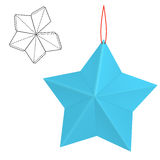 Paper star gift Royalty Free Stock Photo