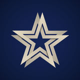 Paper star infinite loop Stock Image